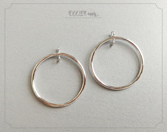31mm G21573 5 Circle Connector Antique Silver Plated Circle