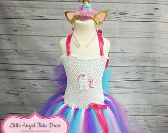 40bdbb0e11a6a NEW Unicorn Tutu Dress. Unicorn Fancy Dress. Unicorn Costume. Birthday  Party. Handmade Dress. Unicorn Headband. Pink Purple Blue Unicorn
