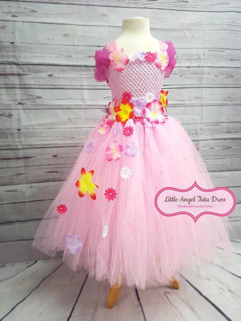 5d661b6980b7 Pink Flower Fairy Dress Fairy Fancy Dress Handmade Tutu