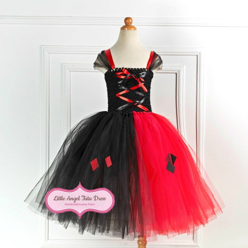 Harley Quinn Dress Joker Fancy Dress Costume Harley Quinn Etsy