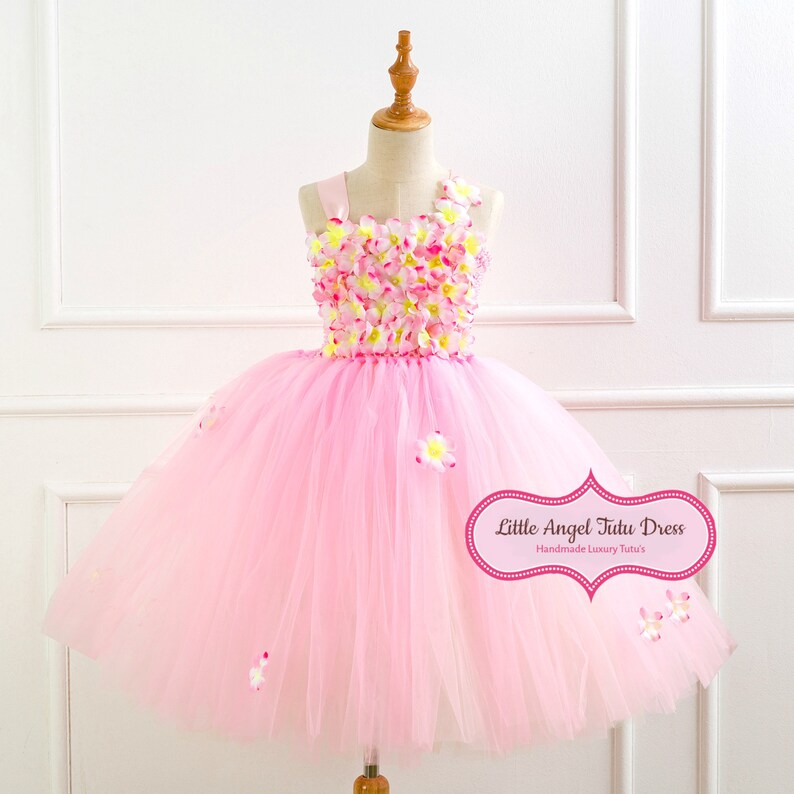 Girls Feather White Tutu Tulle Dress Handmade Fancy dress Fairy Angel frozen