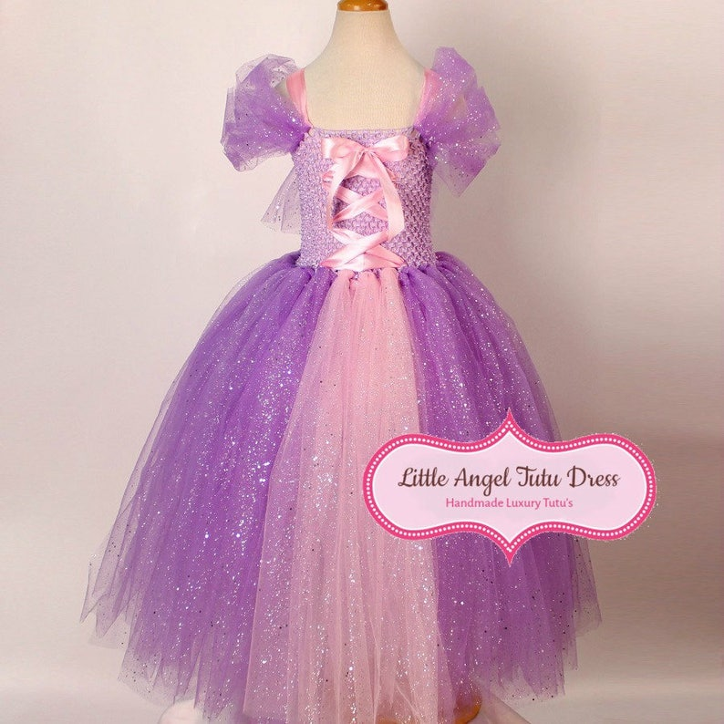 1ef33e2b0 DELUXE Tangled Rapunzel Tutu Dress Handmade Princess Dress | Etsy