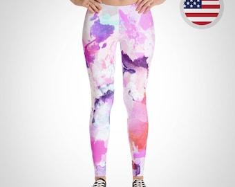 18446ddf83cb6 Paint Splatter Leggings - Made in USA