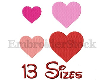Heart Machine Embroidery Heart Embroidery Design Hearts Pattern-13 Sizes  Not Applique File