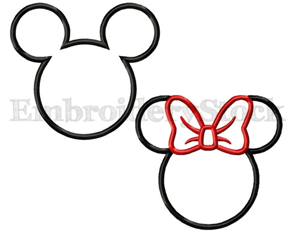 Minnie Mouse Baby adorable Applique Embroidery Design Embroidery Machine Instant Download