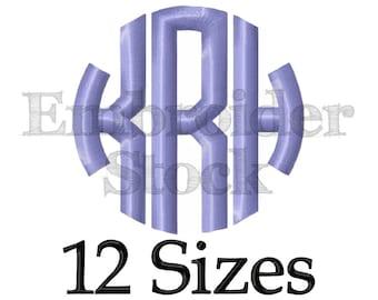 Circle Monogram Font Monogram Machine Embroidery Font Monogram Design Embroidery Fonts - 12 Sizes