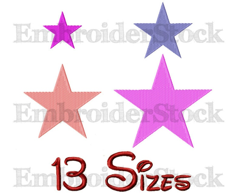 Star Machine Embroidery Star Embroidery Design Stars image 0