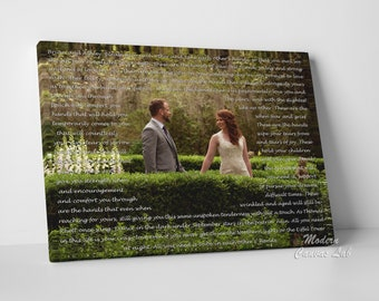 first anniversary canvas vows keepsake his bday canvas gift wedding lyrics canvas art christmas canvas gift