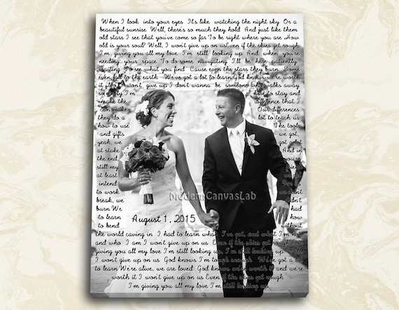 christmas canvas idea cotton anniversary canvas personalized canvas bday and anniversary gifts wedding lyrics word art vows