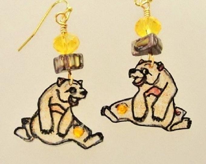bear errings, bear jewelry, brown bear, animal earrings, grizzly bear, mountain bear, honeybear, gift for her, animal jewelry