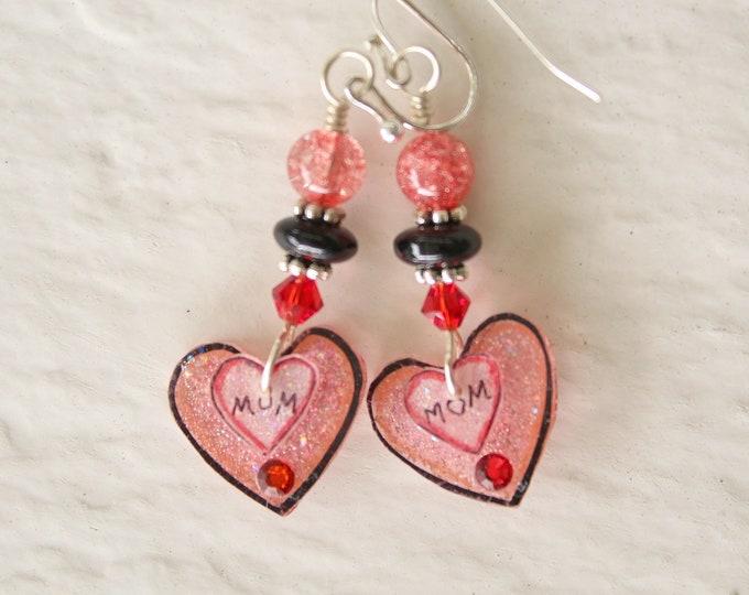 Double Heart Mom earrings(#840)