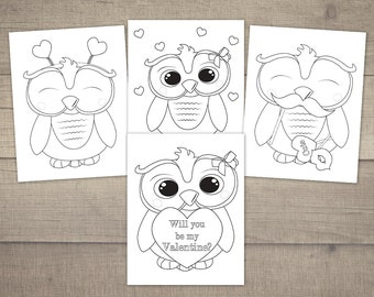 Valentine Day Black And White Poster With An Owl Couple. Stock ... | 270x340
