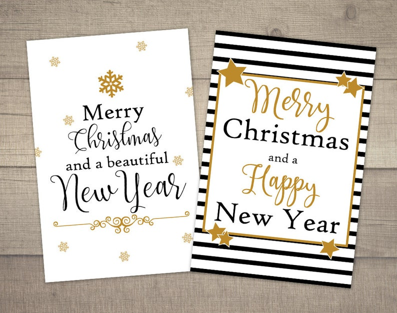 image regarding Printable Christmas Cards Black and White known as Revolutionary Xmas Playing cards, Black and White Xmas Card, Gold Xmas Card, Printable Xmas Playing cards, mounted of 2. Electronic record.