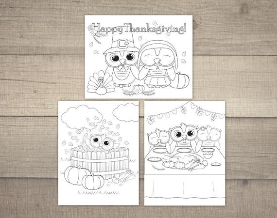 Uil Kleurplaten Printen.Thanksgiving Kleurplaat Uil Kleurplaten Thanksgiving Uil Kleurplaat Kinder Kleurplaat Digitaal Bestand 3 Verschillende Ontwerpen
