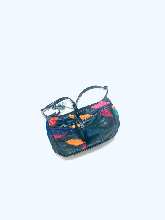 Multicolored/rainbow bag. 80s Patchwork leather sh