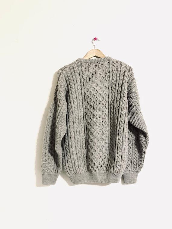 80's fisherman sweater. Vintage 100% pure wool swe