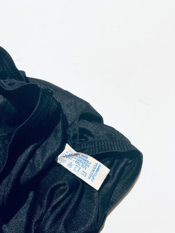 Vintage 1950 black lace slip. Elastic waist half … - image 2