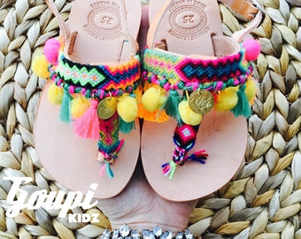 33d6f655da0d Slingback leather sandals for girls