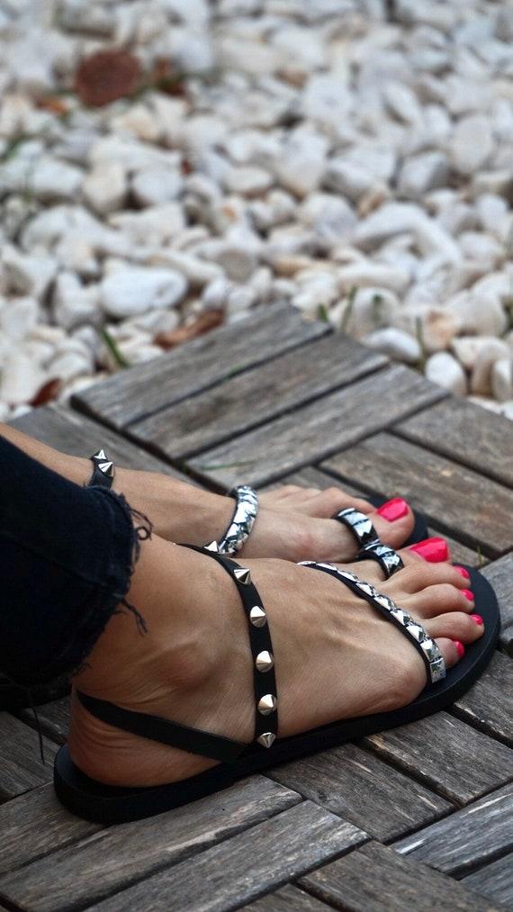 sandales en Eileen Bascule fait cuir sandales strap 1w1zgU