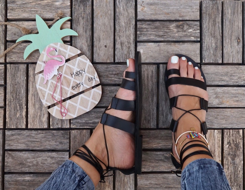 e05033408b67 Leather gladiator sandals ancient greek sandals
