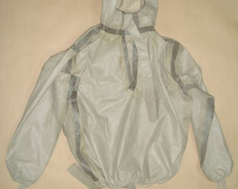 vintage russian soviet army chemical jacket L-1 military jacket with hood