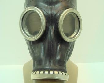 Soviet russian Gas mask GP-5 black fetish rubber mask costume gas mask props gasmask black gasmask GP5 gas mask costume gas mask props