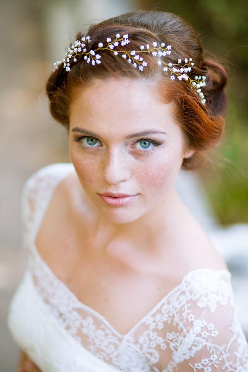 fde319ea27f772 Hełma delikatny fryzurę ślub włosy ozdoba wesele włos wesele | Etsy