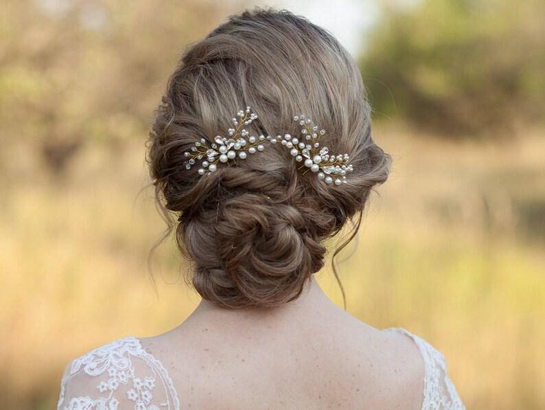 844541813a821b Kryształ włosów szpilki Bridal włosów szpilki Rhinestone włosy | Etsy