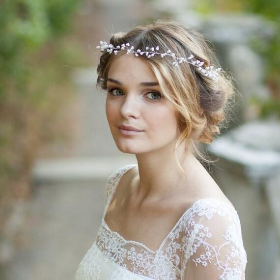 Schleierkraut Haar Rebe Perle Braut Haar Rebe Hochzeit Haar Etsy