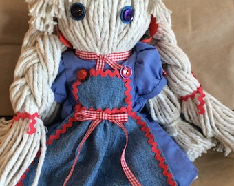 Vermont Moppet Mop Doll - handmade in Vermont also design to suit