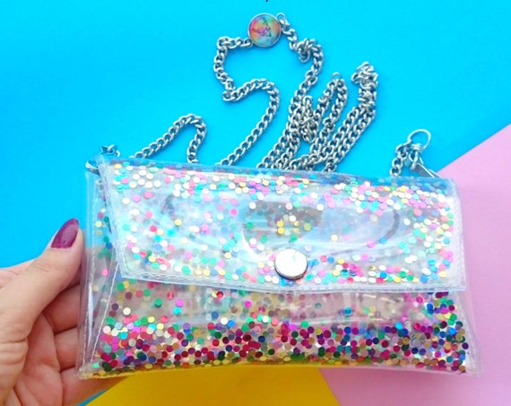 iphone case rainbow,Phone Cases,Small crossbody colorfull sequins bag Cellphone Bag,clear Small Purse, cellphone bag,rainbow glitter