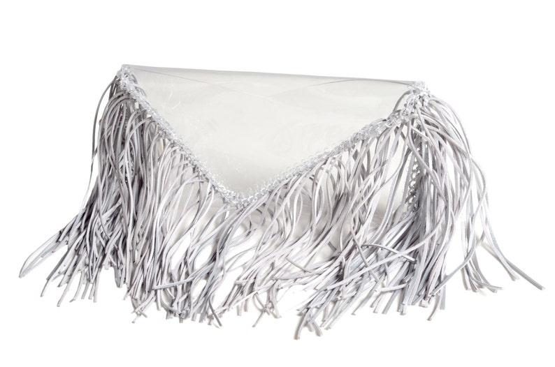 03b3533548 Clear clutch transparent purse bag pouch fringe totes tassles
