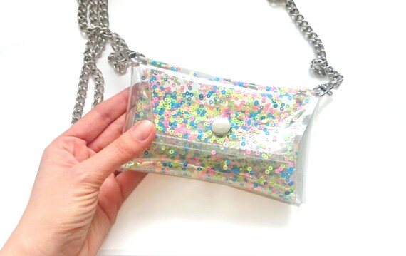 iphone chain bag, Phone Cases, Small Handmade colorfull sequins bag Cellphone Bag, clear Small Purse, cellphone bag, crossbody bag, iphone 6