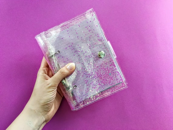 Holographic notebook for kawaii girls, vegan iridescent sketchbook, mermaid notebook, unique journal, pink glitter binder, back to school