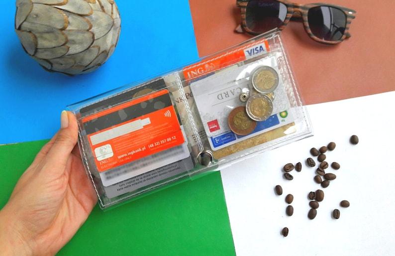 bd281f83a79 Duidelijke portemonnee transparante portemonnee kaarthouder | Etsy