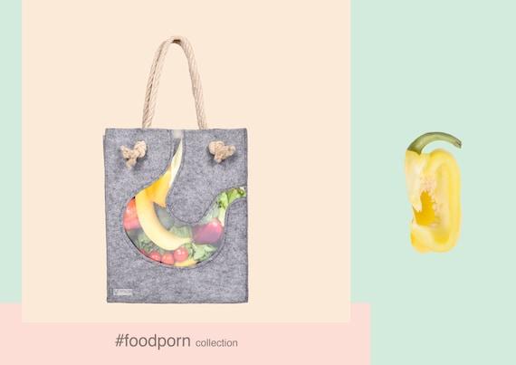 Hobo bag every day tote bag shopper Felt Bag Felted bag, Market Bag, Felt Tote Funny bag, Eco friendly bag, Stomach bag, Joga bag, Funny bag
