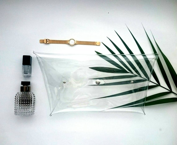Modern minmalist bag, Future bag, Trapezoidal bag, Trapeze bag, Unique bag, Premium bags, Modern clear clutch, minimalist transparent bag