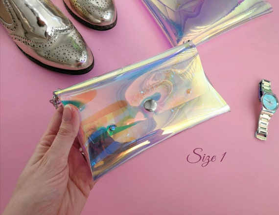 Holographic phone chain case for iPhone, Vegan iPhone Case, Cellphone Bag, Small Purse,cross body bag, opal bag, iridescent mermaid bag OOAK