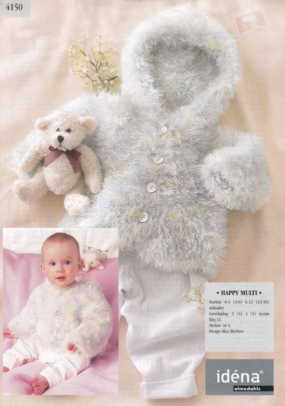 Baby Jacke mit Kapuze stricken Muster Idena schwedische Garn | Etsy
