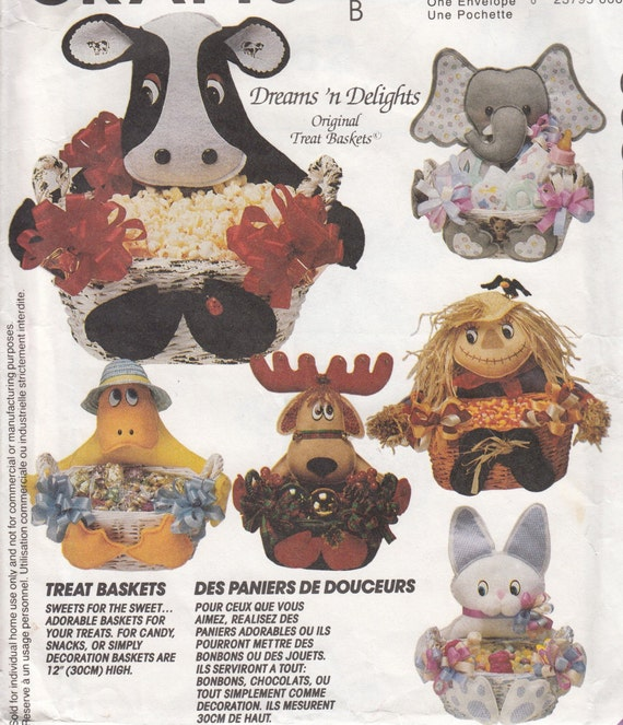 McCalls Crafts 6662 Special Occasion Baskets Sewing Pattern - Home ...