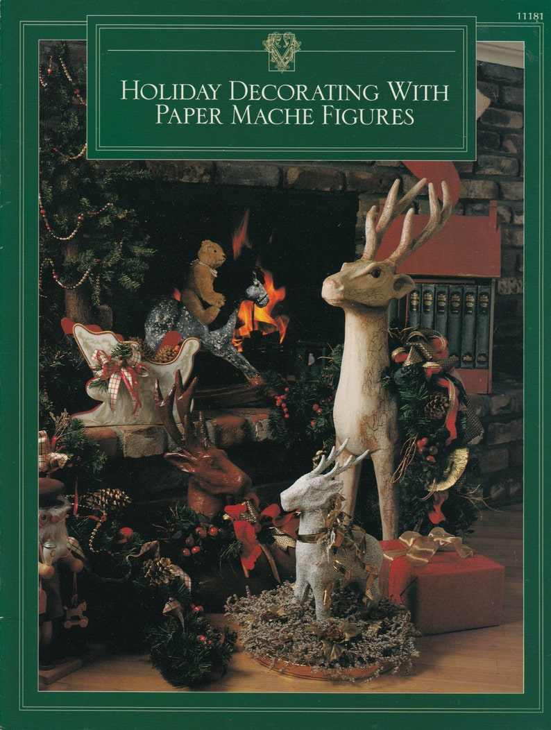 Holiday Decorating with Paper Mache Figures Instructional Book - Holiday &  Special Occasion Figures - Decorative Papier Mache Figures