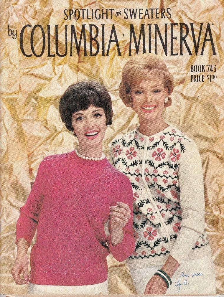 Vintage Knitting Pattern Columbia Minerva Spotlight On Etsy