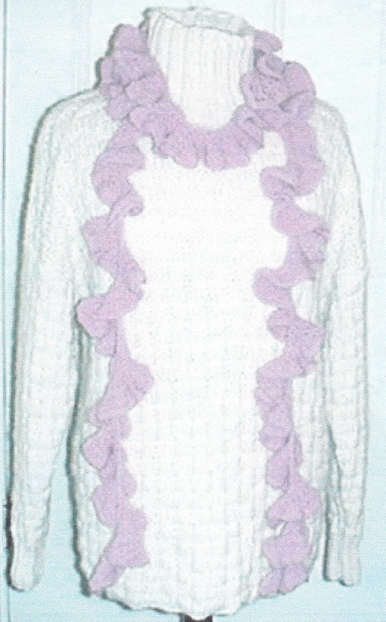 Knitted Scarf Pattern Scarf Knitting Pattern Frilly Scarf Etsy