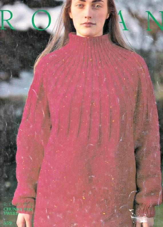 Ribbed Sweater Knitting Pattern Knit Sweater Pattern Womens Etsy