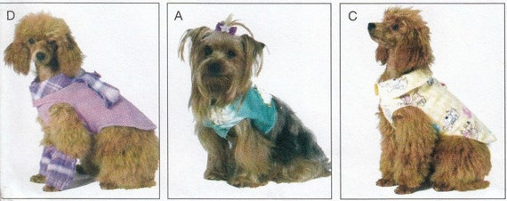 Hund Hund Kleidung Schnittmuster Jacke Muster | Etsy