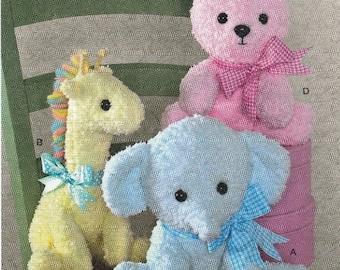 Stuffed Animal Sewing Pattern, Plush Sewing Pattern, Toy Sewing Pattern, Uncut Sewing Pattern, Simplicity 2613