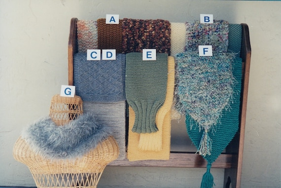 Scarf Knitting Pattern Knitted Scarf Pattern Hand Knit Scarf Etsy