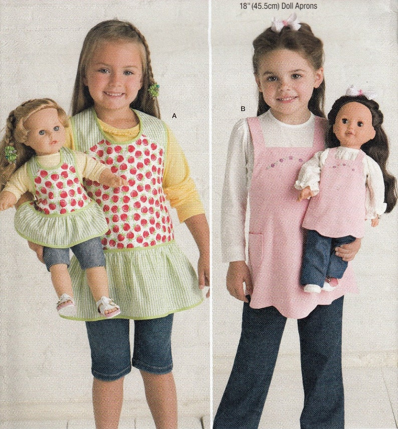 18 Inch Doll Apron Sewing Pattern Girls Apron Sewing Pattern Etsy