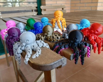 The Original Articulated Octopus 3D Print