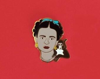 Frida Kahlo Art Enamel Pin